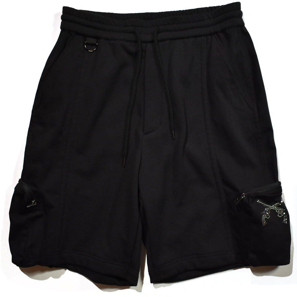 Load image into Gallery viewer, CORDURA BACK SATIN SHORTS / BLACK