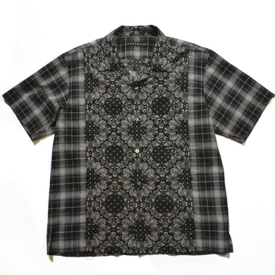 BANDANA × CHECK SHIRT SWAROVSKI / BLACK