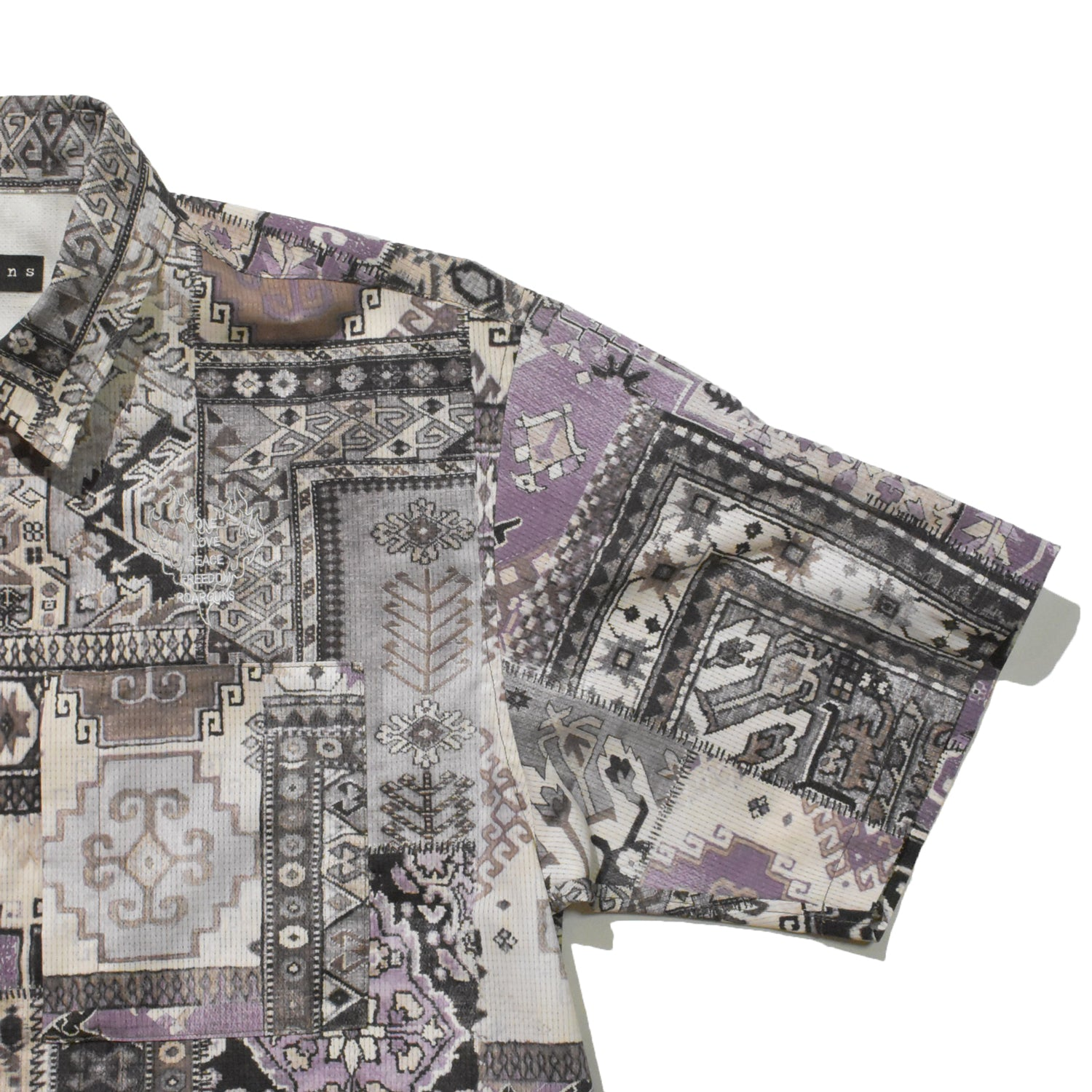 将图片加载到图库查看器,AIR DOTS MOROCCAN RUG SHIRT / PURPLE
