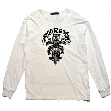 × CHOCOMOO  L/S T BIKE / WHITE