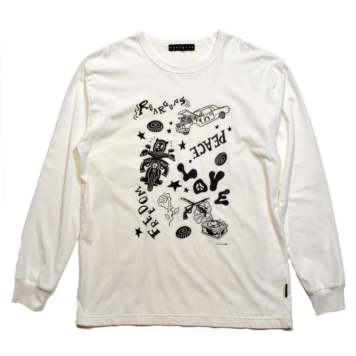 Load image into Gallery viewer, × CHOCOMOO L/S T GRAPHIC / WHITE