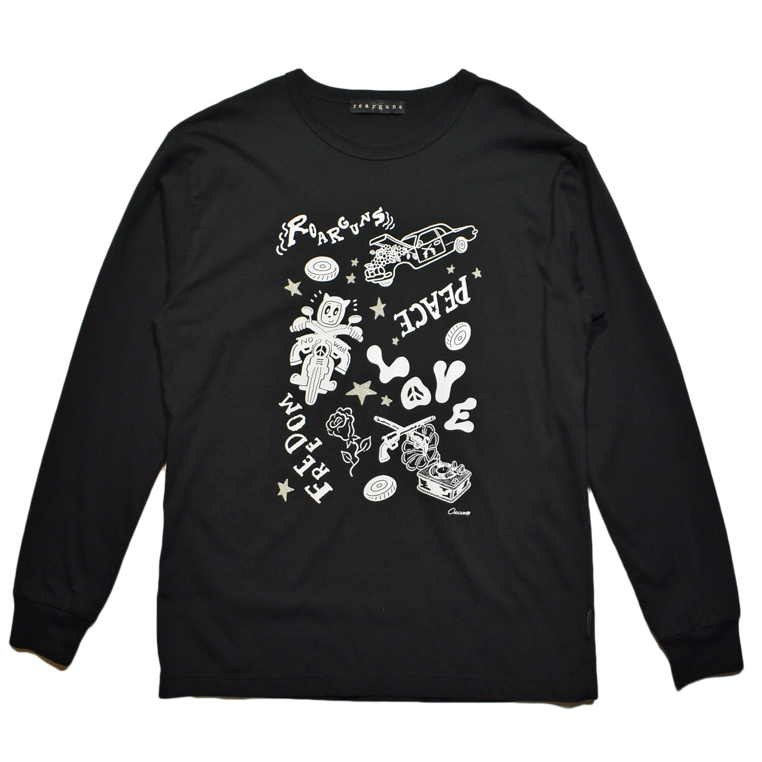 Load image into Gallery viewer, × CHOCOMOO L/S T GRAPHIC / BLACK