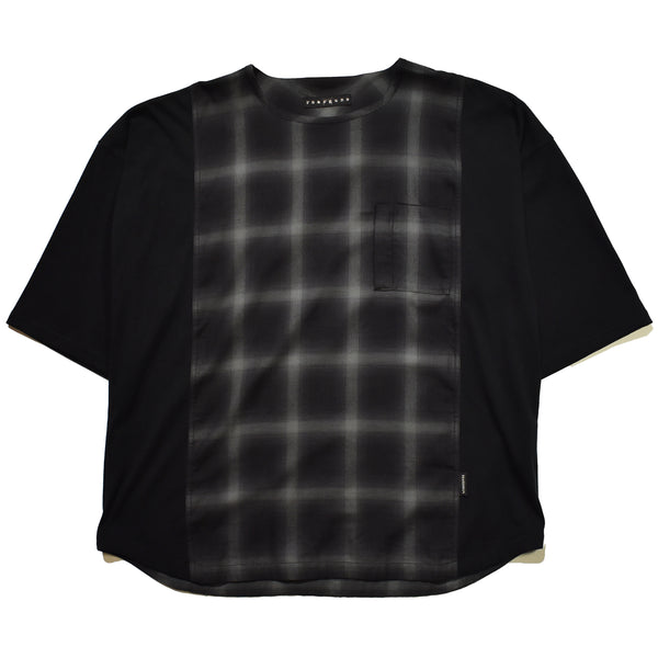 OMBRE CHECK OVERSIZE T / GRAY