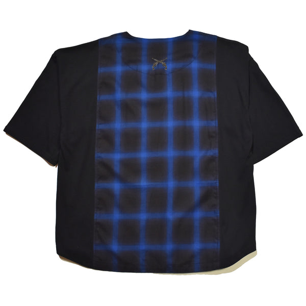 OMBRE CHECK OVERSIZE T / BLUE