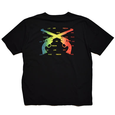 RAINBOW CROSSGUN OVERSIZE T / BLACK