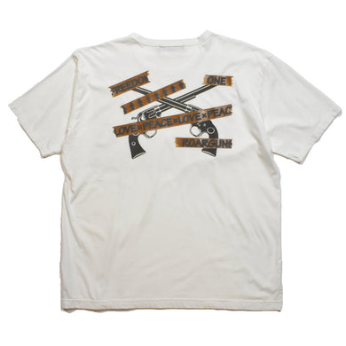 TAPE LOGO CROSSGUN T / WHITE