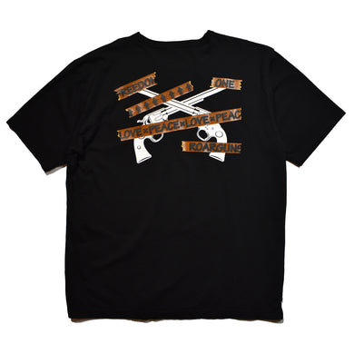 TAPE LOGO CROSSGUN T / BLACK