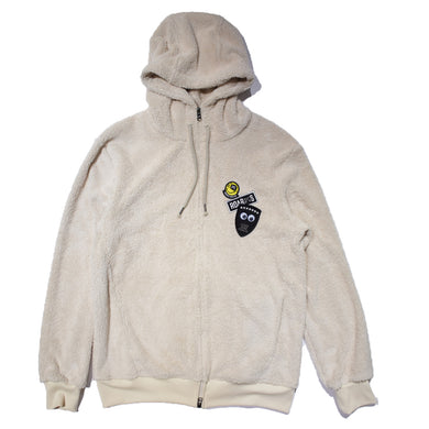 EYE WAPPEN MILITARY FLEECE HOODIE / WHITE