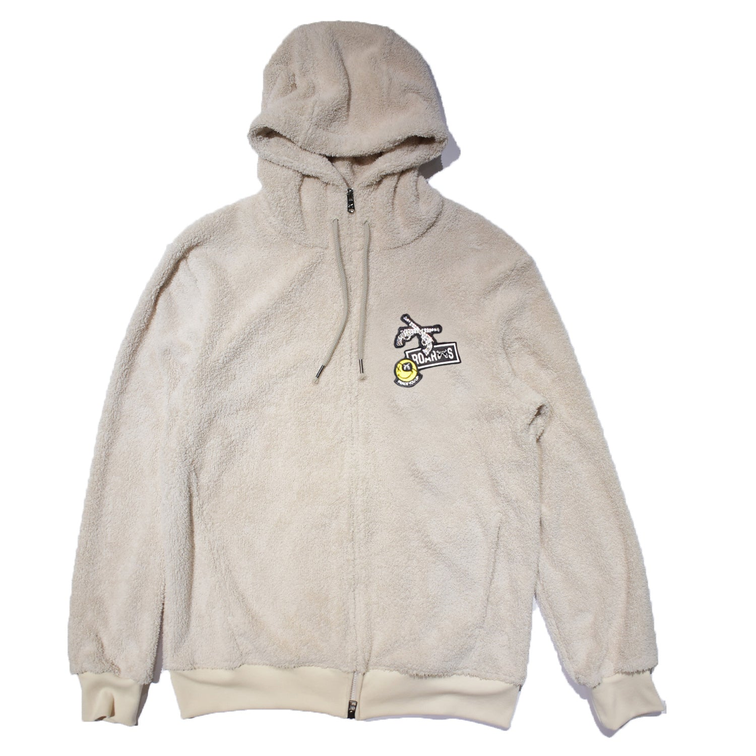 画像をギャラリービューアに読み込む, CROSSGUN SWARO WAPPEN MILITARY FLEECE HOODIE / WHITE