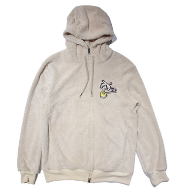 CROSSGUN SWARO WAPPEN MILITARY FLEECE HOODIE / WHITE
