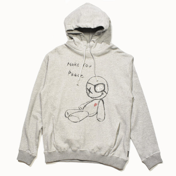 MAKE YOU PEACE DOLL HOODIE / GRAY