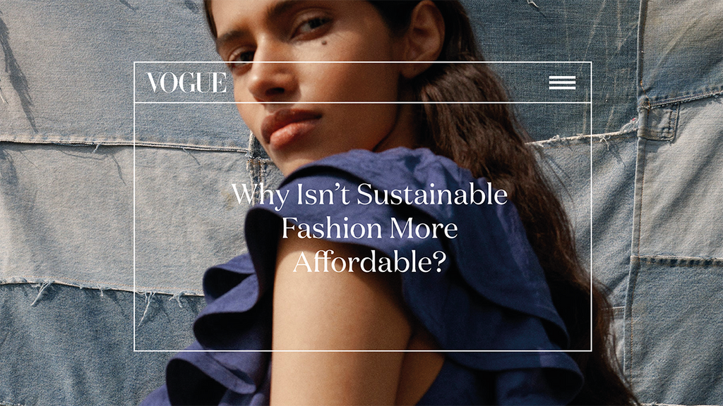 Why isn't sustainable fashion more affordable?
