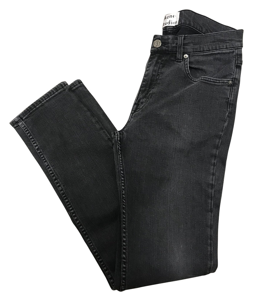 Acne studios faded black skinny jeans