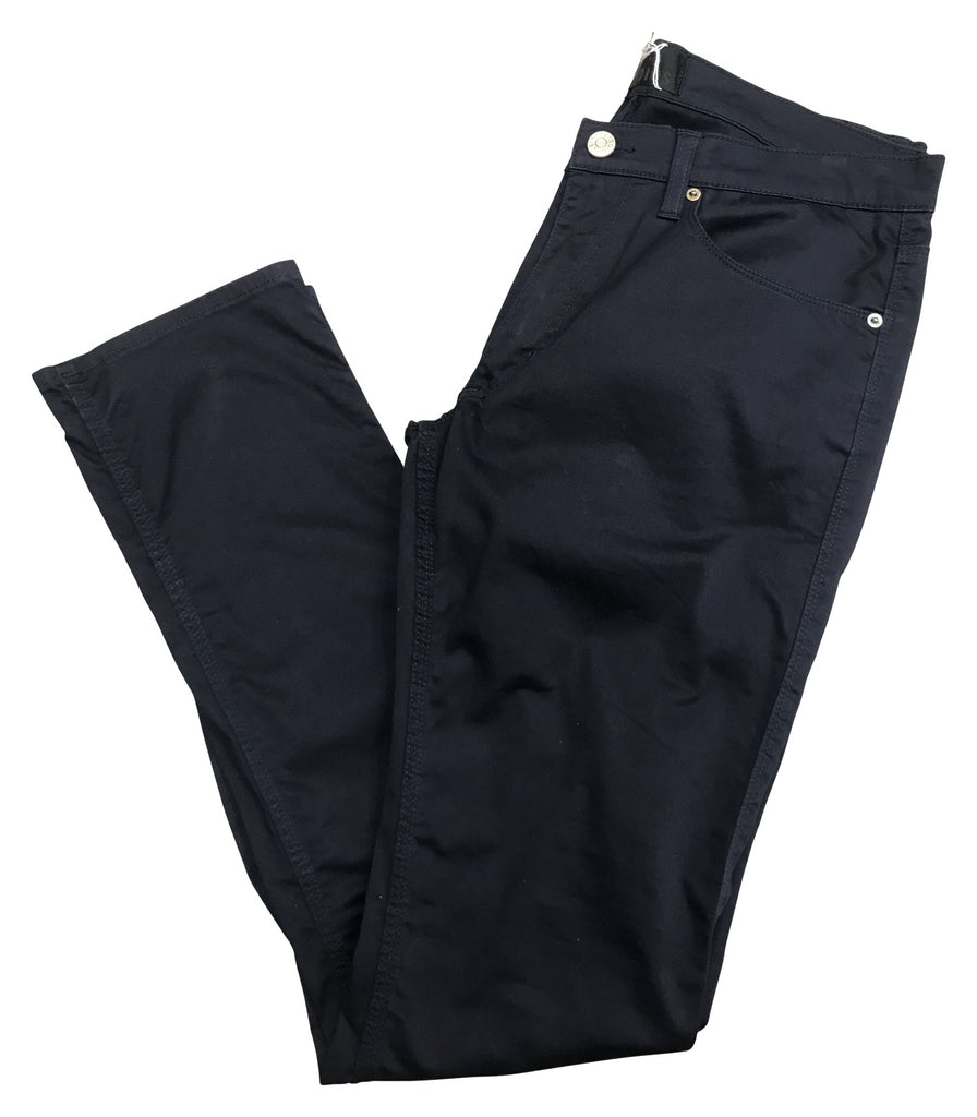 acne studios dark navy buttoned jeans