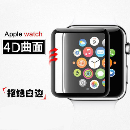 Suitable for Apple iWatch watch tempered film iWatch1 / 2/3 generation curved 4D hot bending tempered film universal