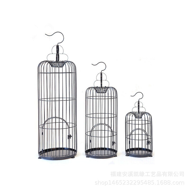 European decorative wrought iron bird cage Large size bird cage decoration hanging large size bird cage wedding decorations ornaments