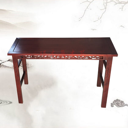 Factory direct solid wood carved long table calligraphy tables and chairs tutorial class desks and chairs