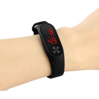 ulzzang Harajuku Trendy Fashion Candy Color Jelly Silicone Watch LED Touch Bracelet Sports Watch