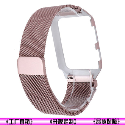 Applicable Apple 3rd generation watch strap protection case integrated 38mm 42mm Milan stainless steel strap factory direct sales