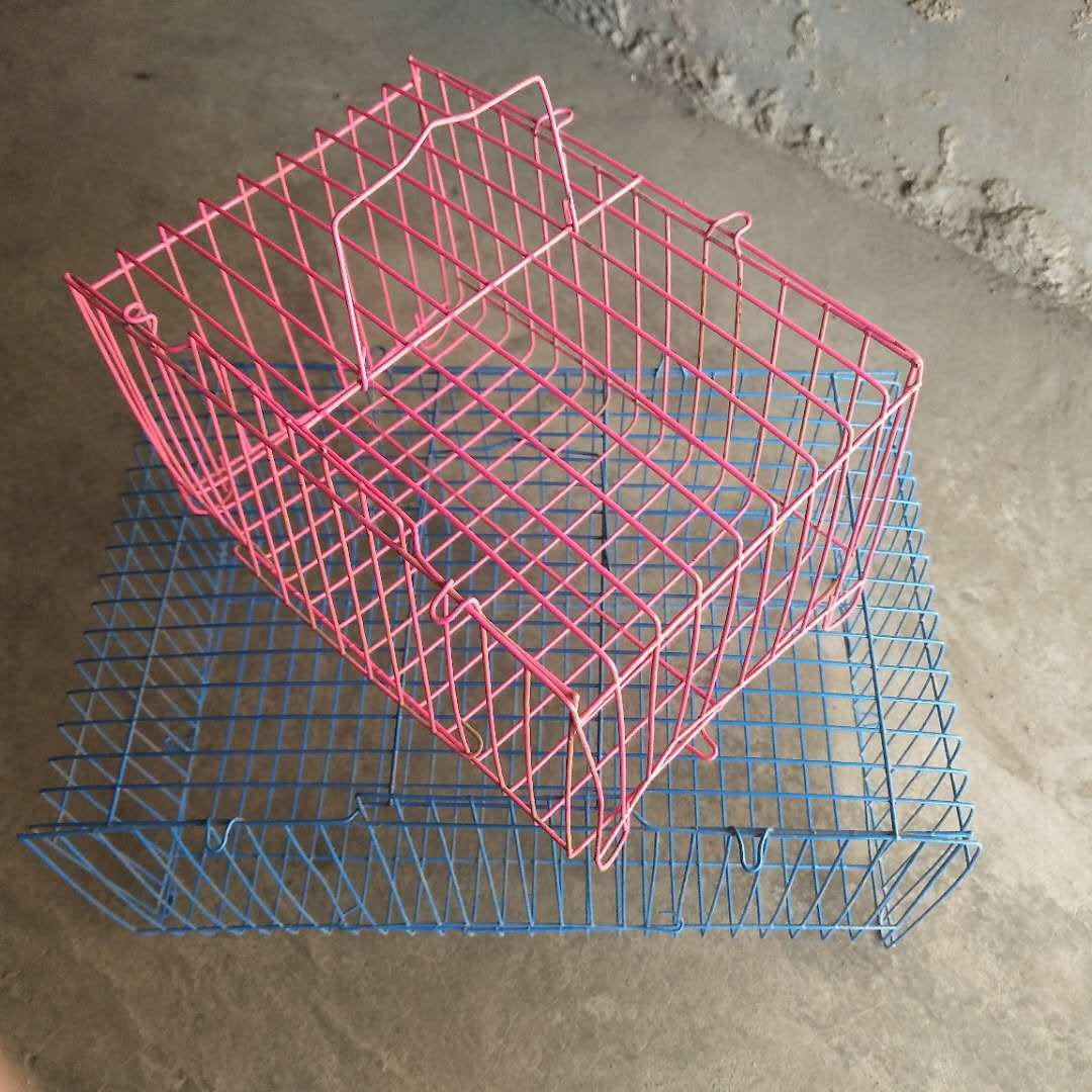 Supply portable cage transport pet rabbit cage Folding cage square pillow cage semicircle cage small pillow cage