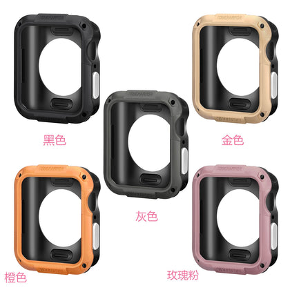 Suitable for Apple Watch all-inclusive case with film iwatch protective cover SGP with screen protective case TPU + PC four 5th generation