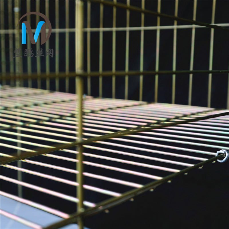 Bold 12-bit wire mesh bottom rabbit cage commercial cage white galvanized iron wire cage 獭 rabbit cage female rabbit cage