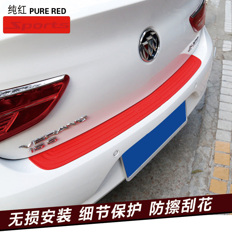 Car trunk protective strip bumper anti-collision anti-slip tail door trim door threshold rear guard plate protection stickers universal