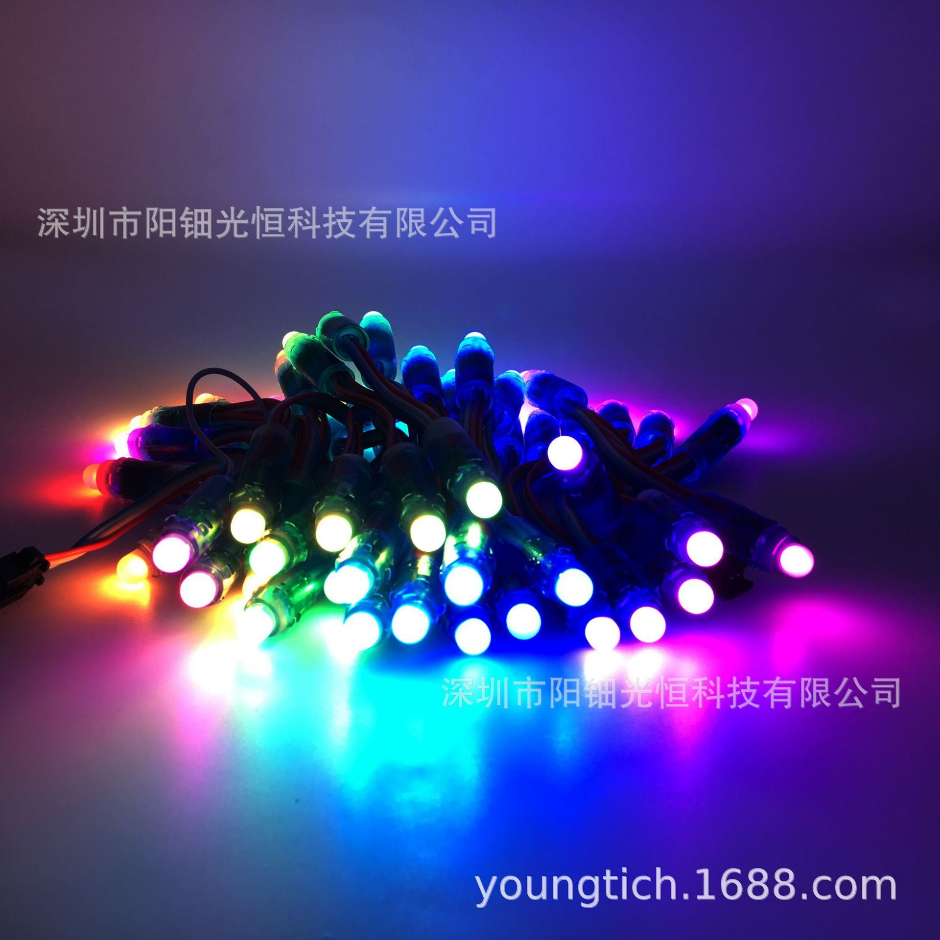 LED full color string 2811 perforated lamp 1903 waterproof exposed lamp programmable F12mm light string glue pixel