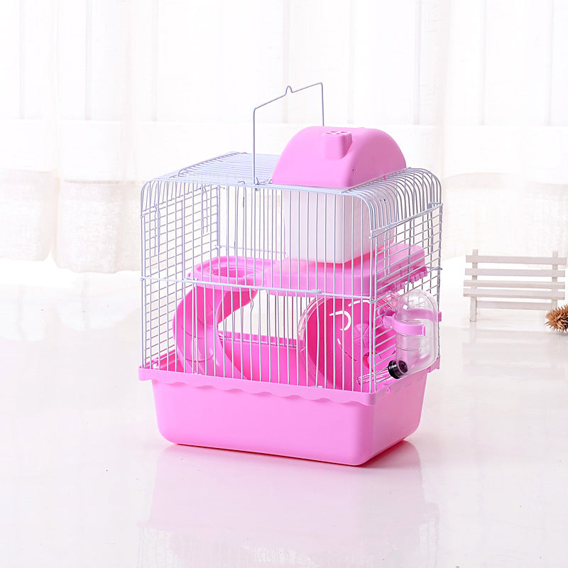 Hamster cage double-layer small castle luxury villa cage hamster nest wholesale of Boer factory pet cage