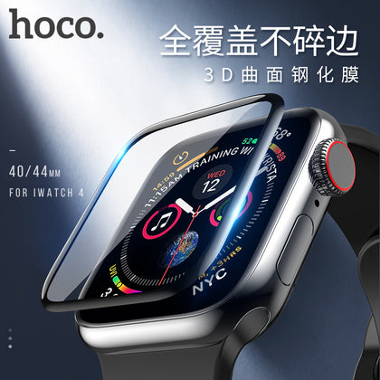 Haoku suitable for iWatch 4 tempered film Apple full screen tempered film 4th generation HD tempered film curved 3D film