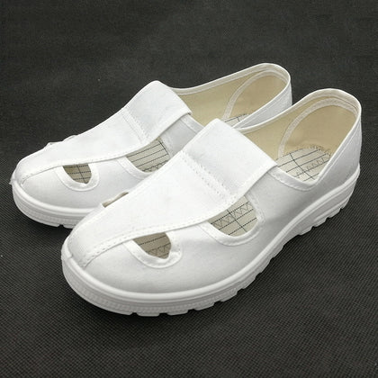 PU small four-hole electrostatic shoes Foot protection work shoes PU small four-hole electrostatic shoes wholesale