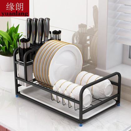 304 stainless steel dish rack countertop draining dish rack multifunctional knife stand chopping board stand kitchen knife stand dish rack