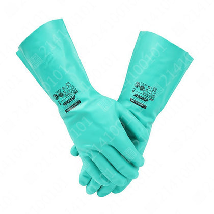 Kimberly 94446 Green Universal Nitrile Fully Protective Gloves Durable Cotton Lining Protective Gloves