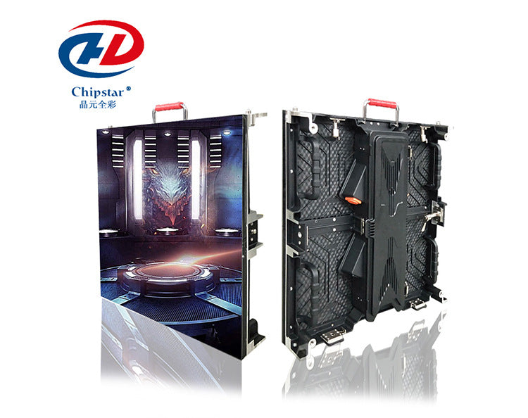 P3.91 outdoor 500x500mm aluminum shaft housing led display rental led display installation