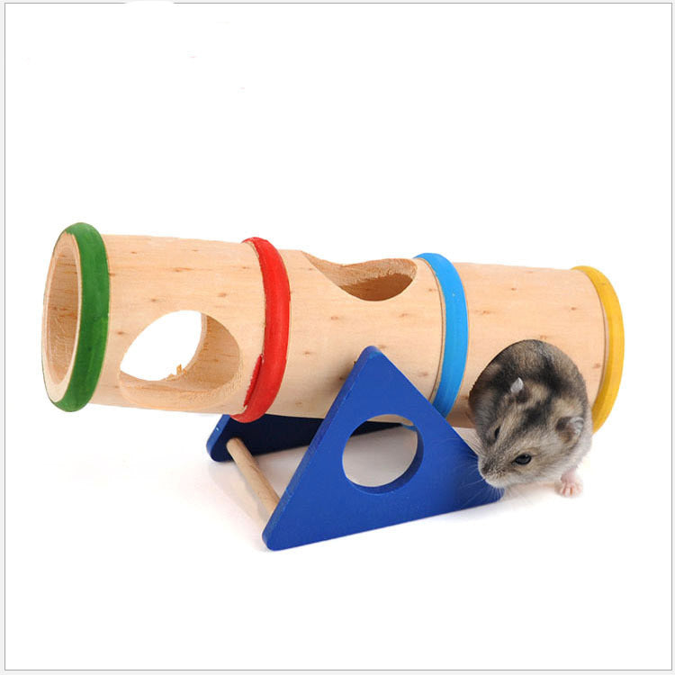 Rainbow cockroach toy Hamster 跷跷 toy wooden small pet jinsong available tunnel