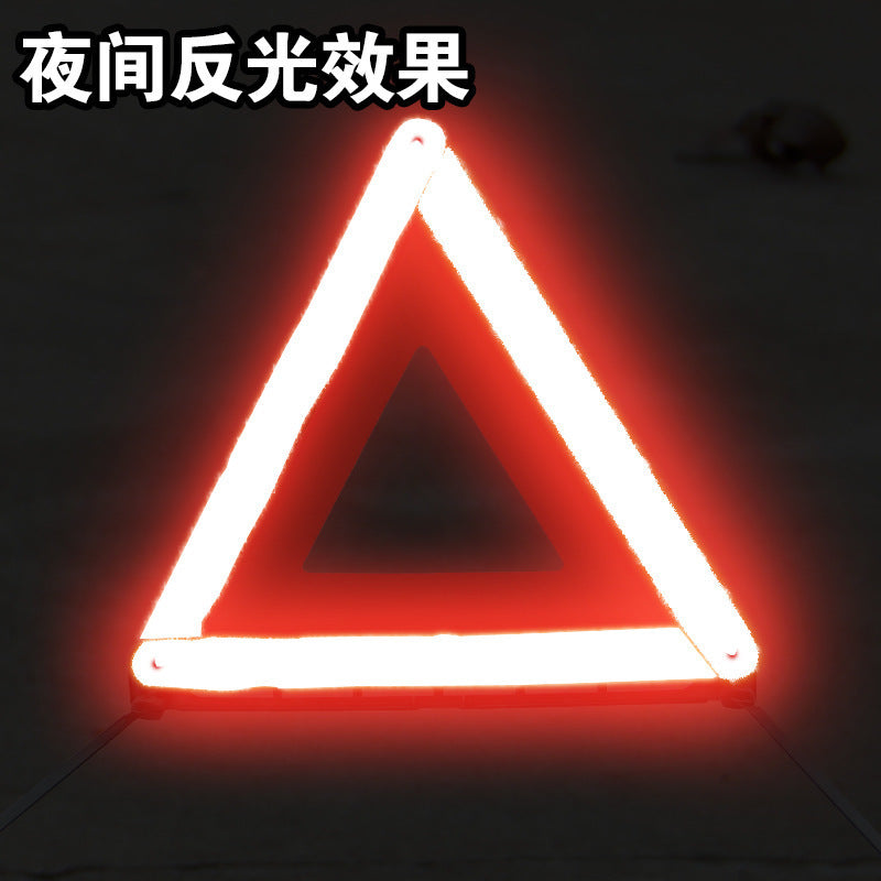 Annual inspection reflective car tripod warning sign tripod sign tripod safety parking warning sign