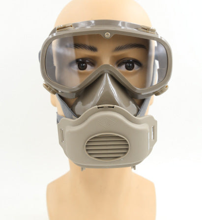 A windproof dust-proof mask, splash-proof glasses, smoke-proof full-face mask, eye-protection dust-proof mask, mask