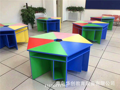 Group activity table tutoring class training reading table student painting table late childcare daycare hosting class studio desks and chairs