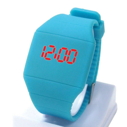 Ultra-thin touch screen led watch touch screen watch fashion plastic led watch multiple colors from 1 piece
