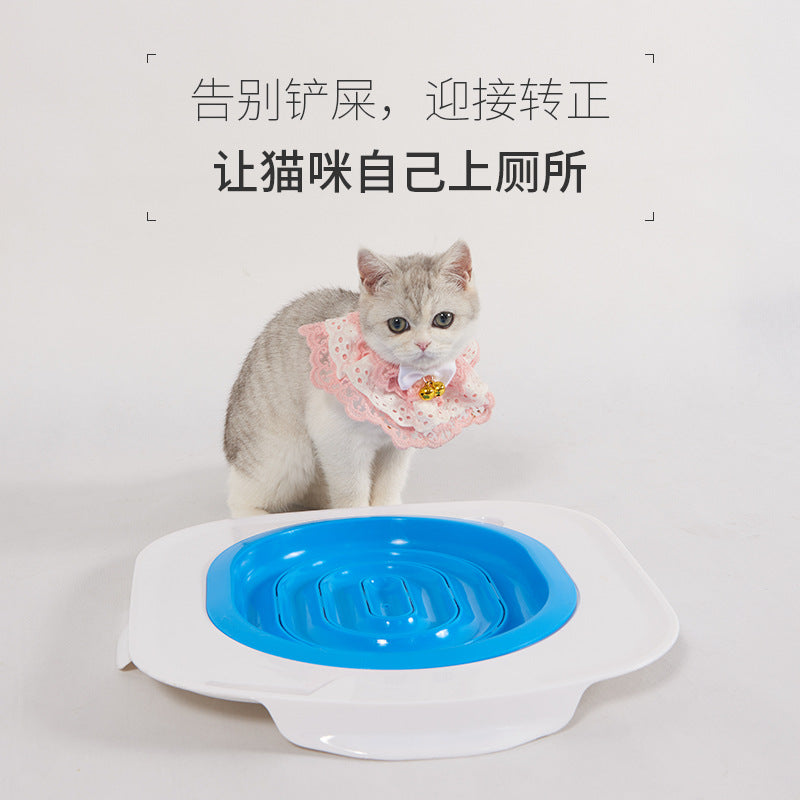 Cat toilet trainer pet cat toilet 蹲 toilet cat toilet cat toilet cat toilet trainer