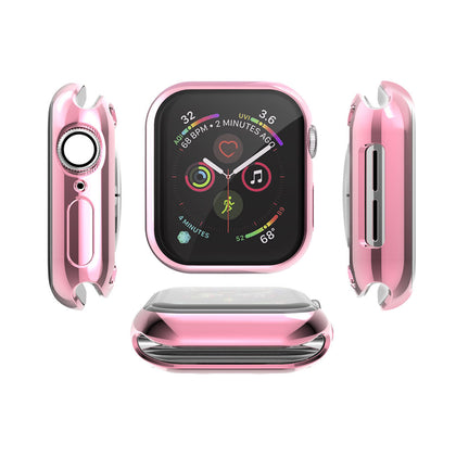 Suitable for Apple Watch all-inclusive screen plating TPU protective case AppleWatch soft case 38/42/40 / 44mm