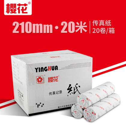 Cherry blossom thermal fax paper 210mm*20m Office fax machine printing paper 20 rolls a full box