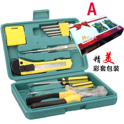 11-piece double-head screwdriver Hardware manual combination tool kit Set gift bag set Small 12-piece set