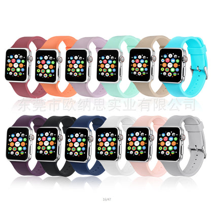 For Apple Silicone Strap High Quality 1/2/3/4 Generation 38 / 40MM 42 / 44MM