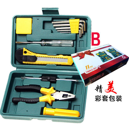 11-piece double-head screwdriver, hardware manual combination toolbox, gift set, small 12-piece set
