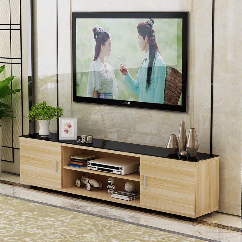 TV TV cabinet modern minimalist coffee table tempered glass cabinet combination living room small apartment mini floor cabinet