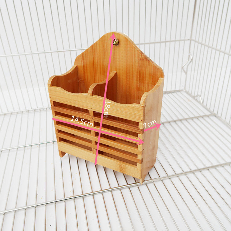 Rabbit bamboo grass frame food bowl rabbit grass frame guinea pig grass frame chinchillas grass frame can be fixed small pet supplies