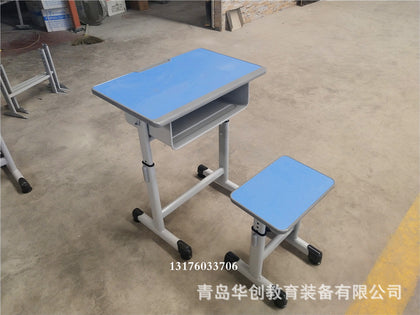 Primary school desks and chairs Training class factory direct single tutoring class hosting desks and chairs lift student desk
