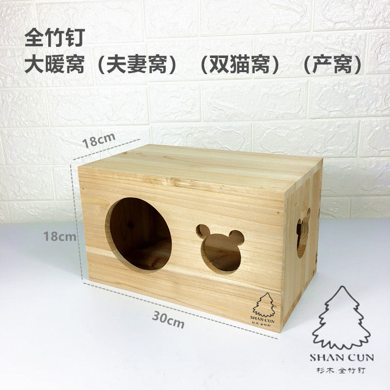 My Neighbor Totoro Wooden House, Stud, Fir, Devil, Squirrel, Honey Bag, Hedgehog, Snow, Dutch, Solid Wood, Totoro, Wooden, Bamboo, Nail