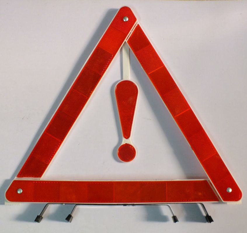 Emergency supplies car triangle warning sign car reflective tripod 38 cm large